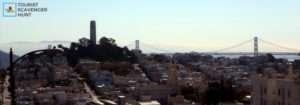 San Francisco Oakland Bay Bridge & Coit Tower