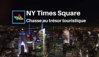 Chasse au trésor touristique dans New York Midtown Times Square