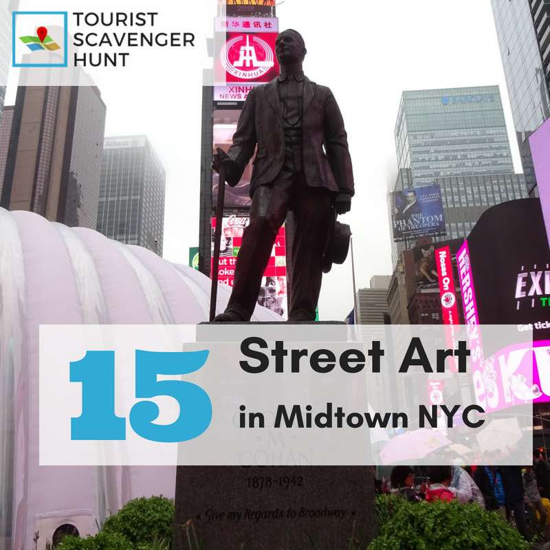 15 street art in Midtown Manhattan