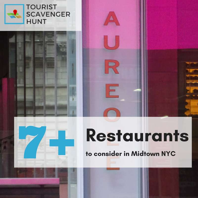 7+ restaurants in midtown manhattan