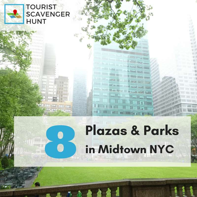 8 parks in Midtown Manhattan