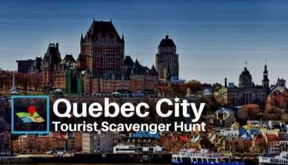 Old Quebec city tourist scavenger hunt