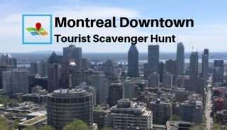 Montreal downtown tourist scavenger hunt
