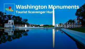 Washington monuments tourist scavenger hunt