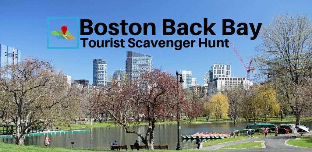Boston Back Bay tourist scavenger hunt