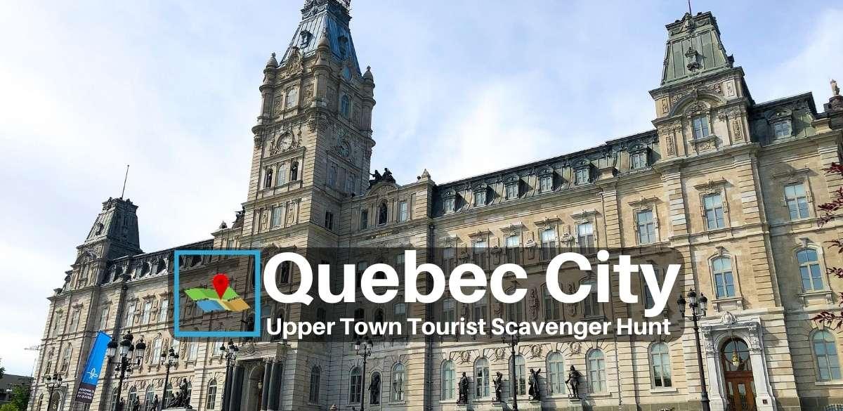 Quebec city upper town tourist scavenger hunt
