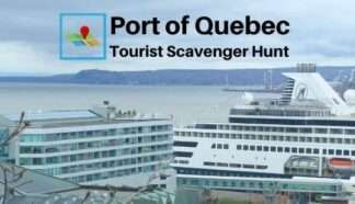 Port of Quebec tourist scavenger hunt